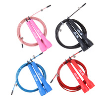 Adjustable Speed Steel Wire Skipping Jump Rope Crossfit Fitnesss Equipment 3M 4 Colors Hot Free Shipping