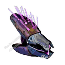 Halo Needler Type 33 Guided Munitions Launcher Gun 3D Paper Model