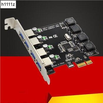 5 gbps superspeed 4 portas usb 3.0 adaptador de cartão de expansão pci-e pci express controlador para pcie x1 x4 x8 x16 porto para win 7 8 10
