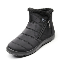2018 Wanita Sepatu Boots Tahan Air Musim Dingin Wanita Pasangan Unisex  Salju Boots Hangat Bulu Anti 2c4d77c25f