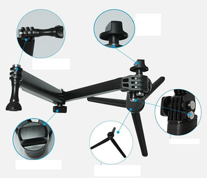 Image 2 - 3 weg Grip Arm Statief Monopod 3 Manier Selfie Stick Mount voor Gopro Hero 7/6/5 /4/3/3 +/2/1 Xiaomi Xiaoyi SJCAM Sport Camera