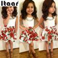 Moda de Verano Linda Chica Rosa Top T-Shirt de Moda Mini Vestido Outfit Set Party Hermosa shiping Libre