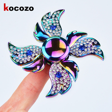 Hottest Fashion Colorful Hand Spinner Anxiety Stress Adults Kid Fidget Spinner Metal Finger Toys For Children 2017 Hot Selling