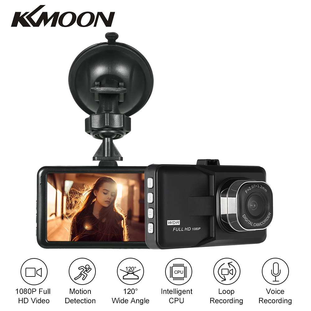 KKMOON 3 in Dash Camera Car DVR Dash Cam Video Recorder LCD FHD 1080P Camcorder Motion Detection / Loop Recording