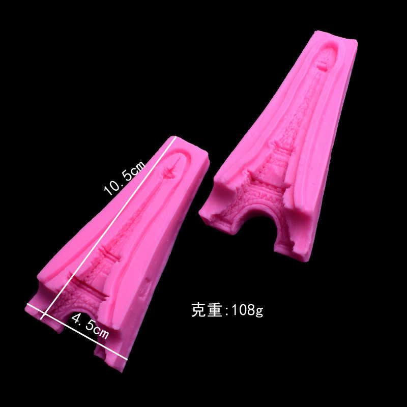 УФ креативная Мода 3D Эйфелева башня силиконовая форма DIY Смола декоративное ручное производство ювелирных изделий форма эпоксидная смола формы запонка в форме пианино