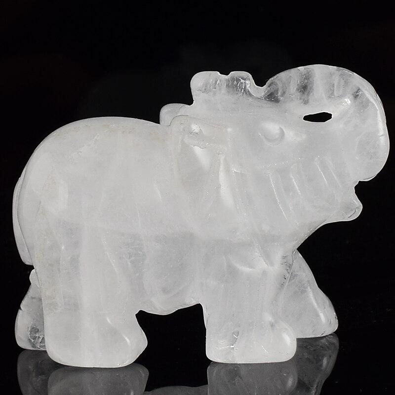 6a93639c 2 tommer elefant figurer håndværk udskårne naturlige sten rock ...