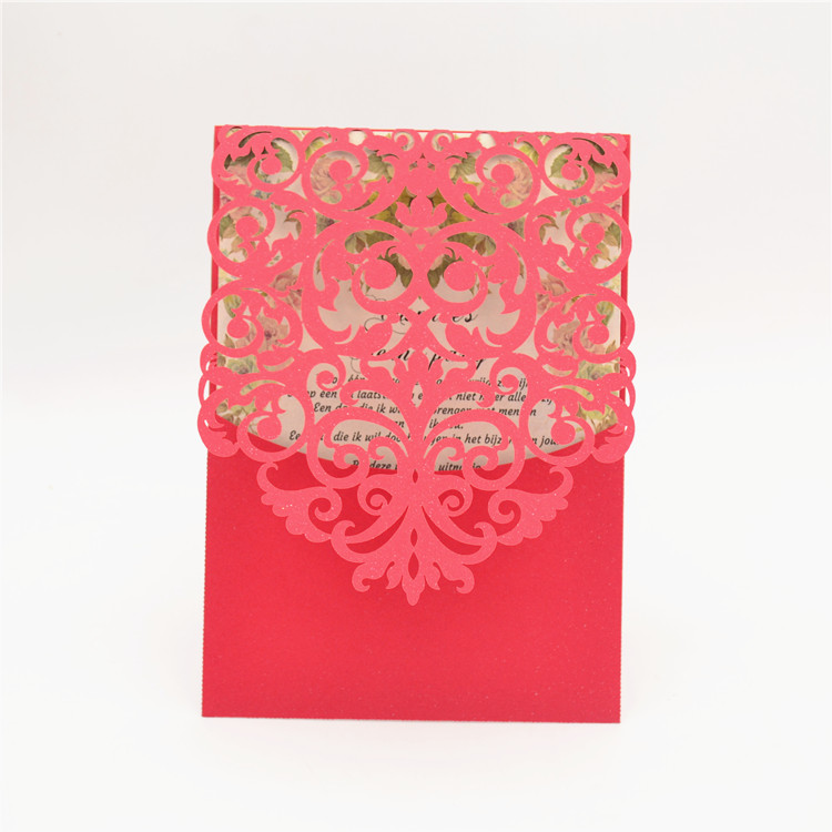 Vintage pocket design laser cut indian wedding invitation samples-in ...