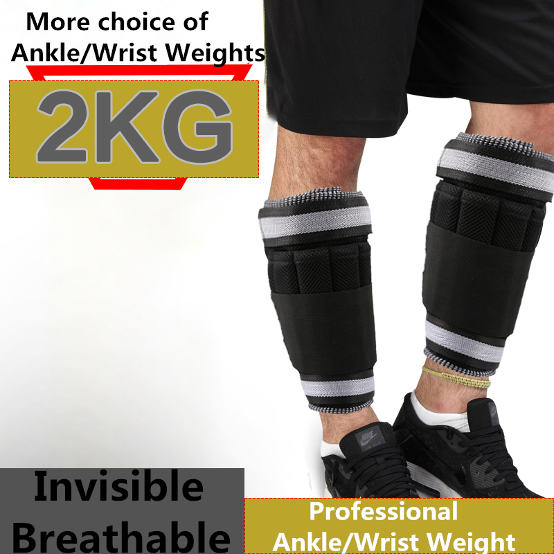 All Pro Weight Adjustable Wrist & Ankle Leg Weights, 2KG/ Pair (2 pieces) ...