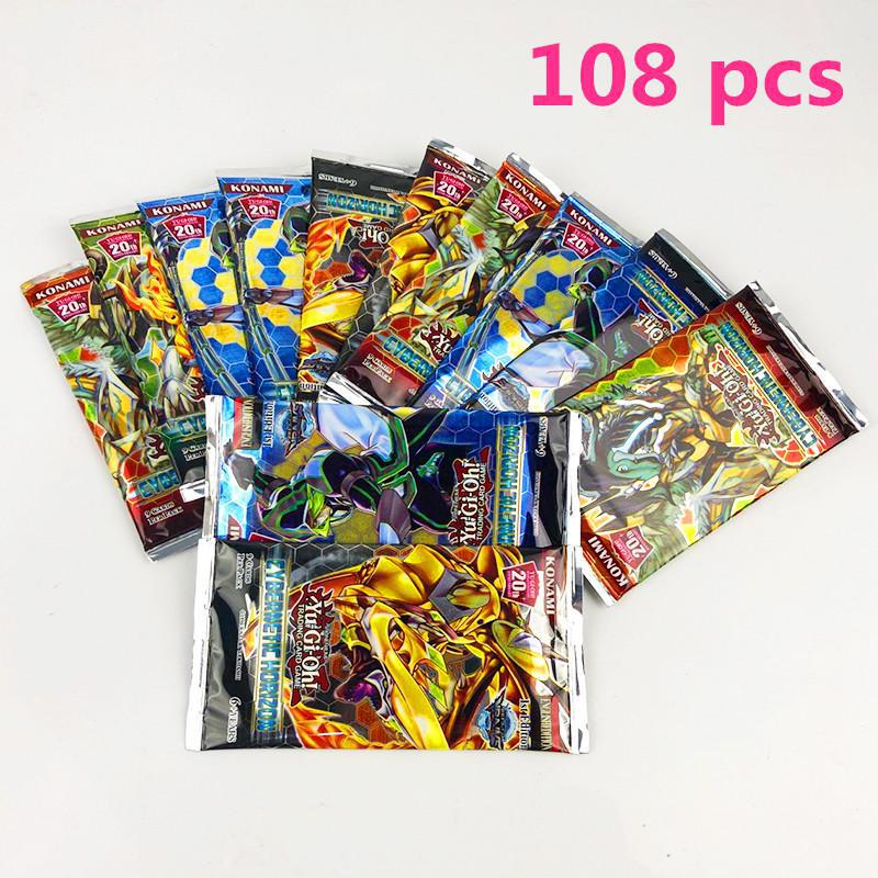 108 шт./компл. аниме Япония Yu-Gi-Oh! Игра карты коробка игра юджиох карты yu-gi-ой коллекция карт ради интереса с Японией легендарные игрушка - Цвет: d