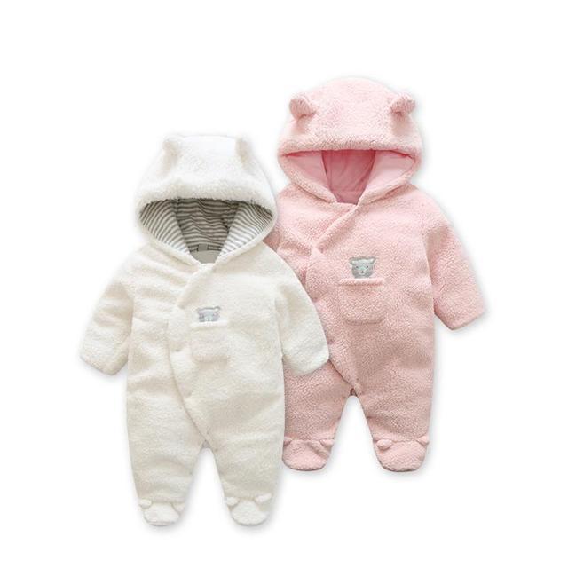 30cef79b1841 Fashion 2019 spring baby coat Lamb Cashmere baby pajamas for newborn ...