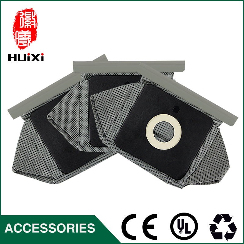 3 pcs 50mm Vacuum cleaner non woven filter bag and washable dust bag with high efficiency for QZ11A QZ11B QZ11C QZ11D etc