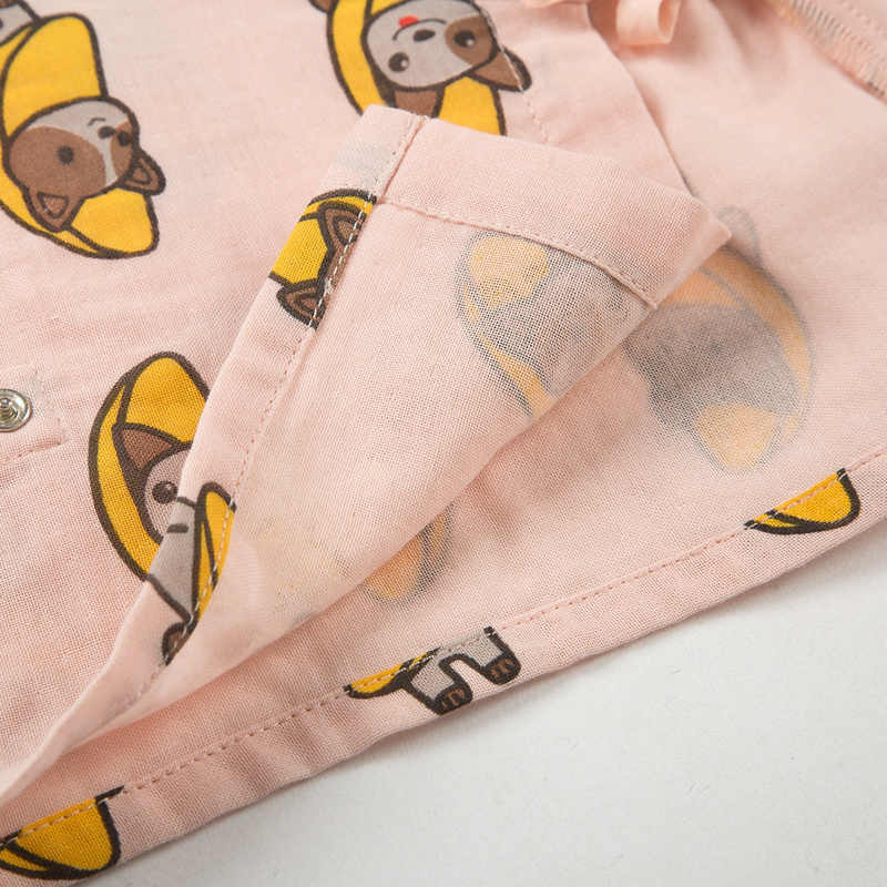 Mini Balabala bebé recién nacido de 2 piezas de algodón 100% camisa de manga corta con corbata lateral + conjunto de pantalones cortos para bebés y niñas