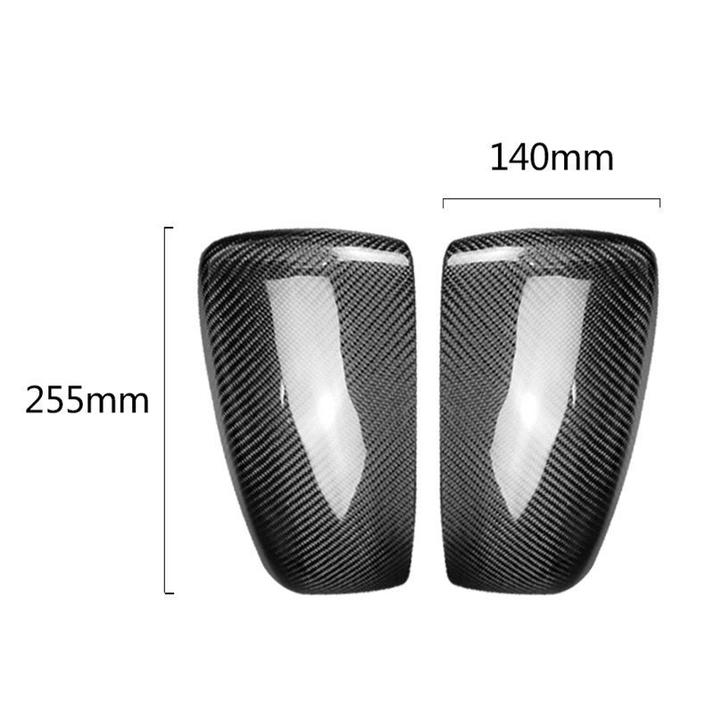 2Pcs Carbon Fiber Rear Door Side Wing Mirror Black Covers Cover Caps For Bmw X5 X6 E70 E71 Exterior Parts Replacement