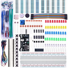 цена на ELEGOO Arduino Breadboard Jumper Wires for Arduino Led Lights Electronics Kit Power Supply Module Potentiometer 830 tie-points