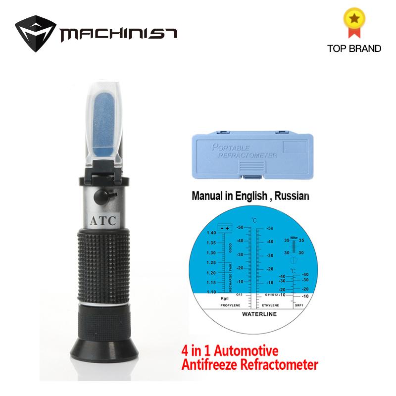 Automotive Car Antifreeze Refractometer Freezing Point Urea Adblue Battery Fluid Antifreeze Water Tester Inspect ATC Tool