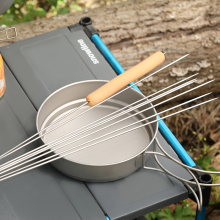 Ti artisan outdoor picnic Barbecue prod Titanium skewers grill BBQ meat brochette shish kebab roasting needles
