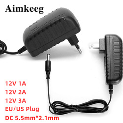 AC 100-240V Power Adapter 12V 1A 2A 3A Adapter LED Light strips Power Supply Charger Adaptor EU Plug US Plug AC/DC Adapter