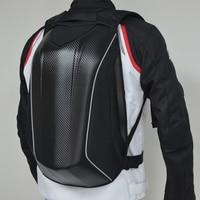 Motorcycle Backpack Bag Carbon Fiber Reflective Motocross Riding Racing Bag Waterproof Motorbike Double Shoulder Bag
