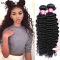 INNATE CHARIS Brazilian Deep Wave 4 Bundles Cheap Remy Virgin Deep Wave Brazilian Hair 7A Deep Curly Weave Human Hair Extensions
