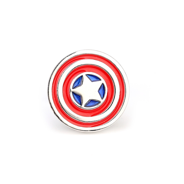 Captain America Cufflinks Red Color Novelty Superheroes Design Mens Wedding Cuff Buttons
