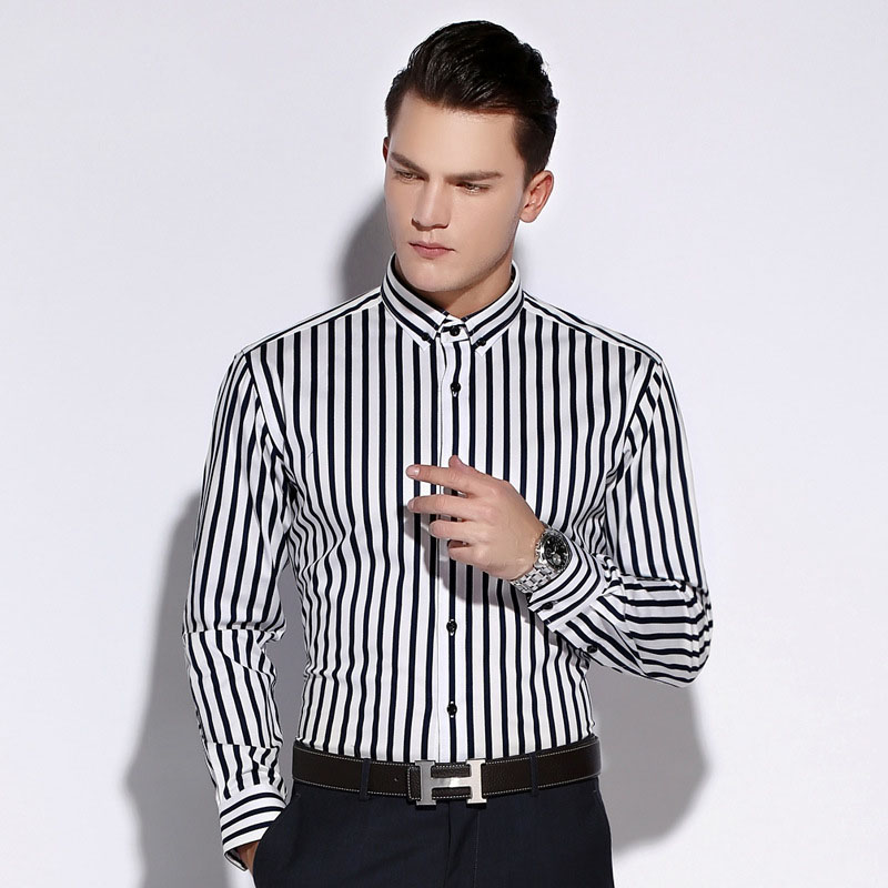 Compare Prices on Striped Shirt Men Vertical- Online Shopping/Buy ...