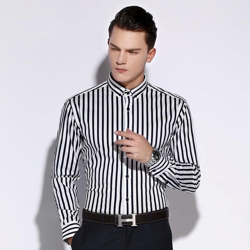 Rayas Verticales Estilo de inglaterra Para Hombre Camisas