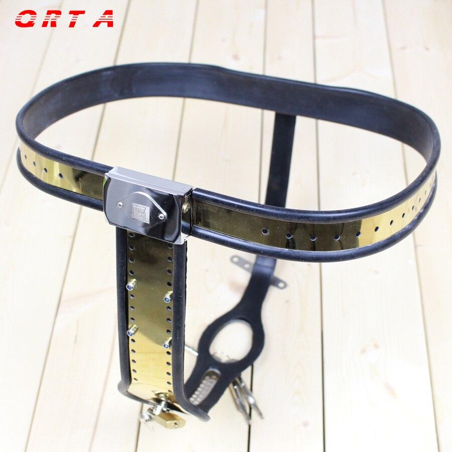QRTA vrouwelijke kuisheidsgordel/Rvs Strap Op Lock Kuisheid Broek Apparaat/Voorkomen buitenechtelijke zaken Speeltjes Voor vrouwen
