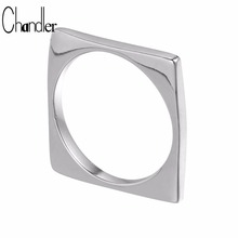 Chandler Brand Original 925-Sterling-Silver Jewelry Square Rings For Women Punk Gothic Heart Bague Hand Spinner Carters Luxury