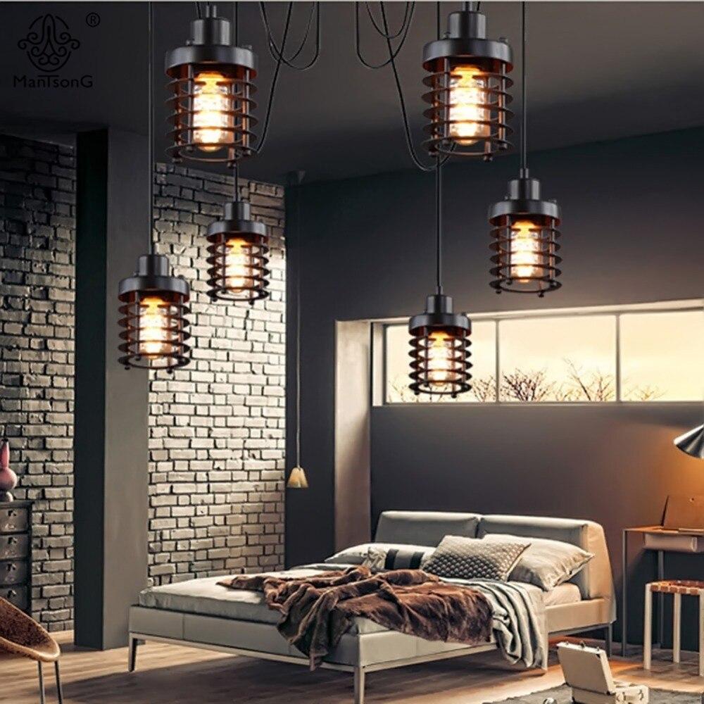 Aliexpress Jahrgang Industrielle Pendelleuchte Designer Spinne Hngen Loft Eisen Retro E27 AC Fr Wohnzimmer Lampe Home Bar Cafe Beleuchtung Von
