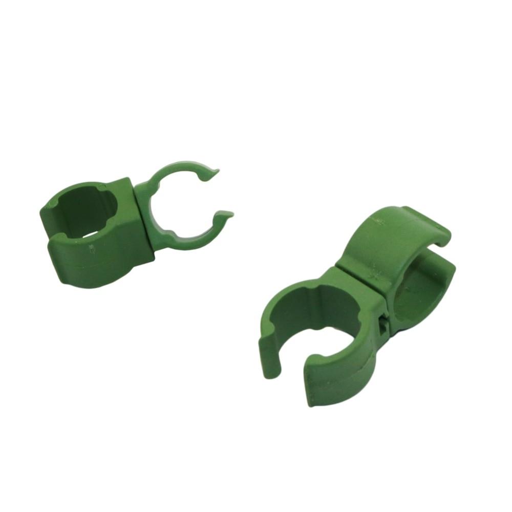 10 Pcs Plastic Fastener Bracket Fixed Clamp 360 Degree Rotaring Garden Connector