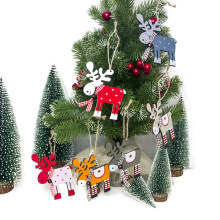 Albero Di Natale creativo Decorazione di Legno Dipinto Alce Pendente 1Pc Xmas Party Decor Cervi Di Natale Ornamenti di Natale Decorazione per la Casa(China)