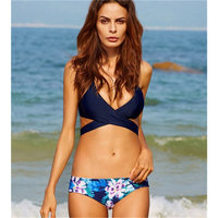 Daddy Chen Women Girls Female Swim Bikinis Set Polyester Fiber Low Waist Swimsuit S M L