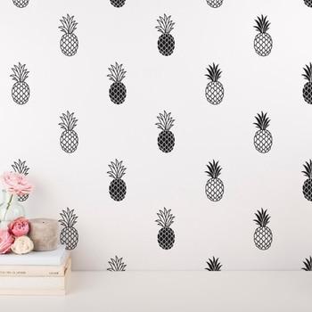 8de4cf886fa6 Vinilo moderno piña pared calcomanía hogar Tropical decoración ...