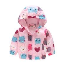 цена Spring Clothing Boys Girls Coat Long Sleeve Zipper Hooded Jacket Polyester Printed Coat Children Clothes Kids Coat Multicolor онлайн в 2017 году