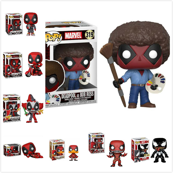 Funko POP Deadpool The Joy of Painting Bob Figure Collection Model Toy Boy Toys For Children Birthday GiftFunko POP Deadpool The Joy of Painting Bob Figure Collection Model Toy Boy Toys For Children Birthday Gift