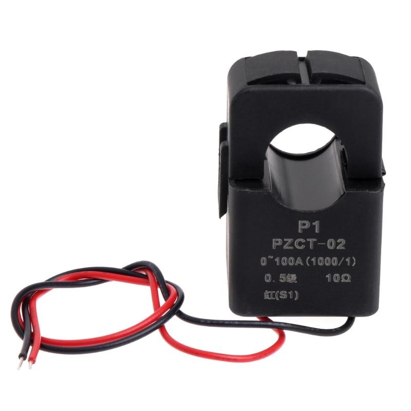 Точность AC катушка трансформатора тока PZCT-2 100A/100mA для Вольтметр и амперметр переменного тока