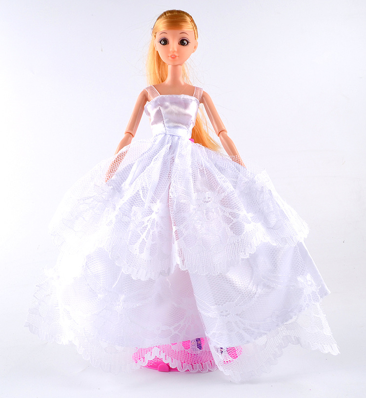 New Baby Doll Clothes Accessories White Red Pink Color Wedding Gown ...
