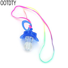 Children Pacifier Dummy Nipple LED Light Flashing Whistle For Bar Night Club Party Projects Toy