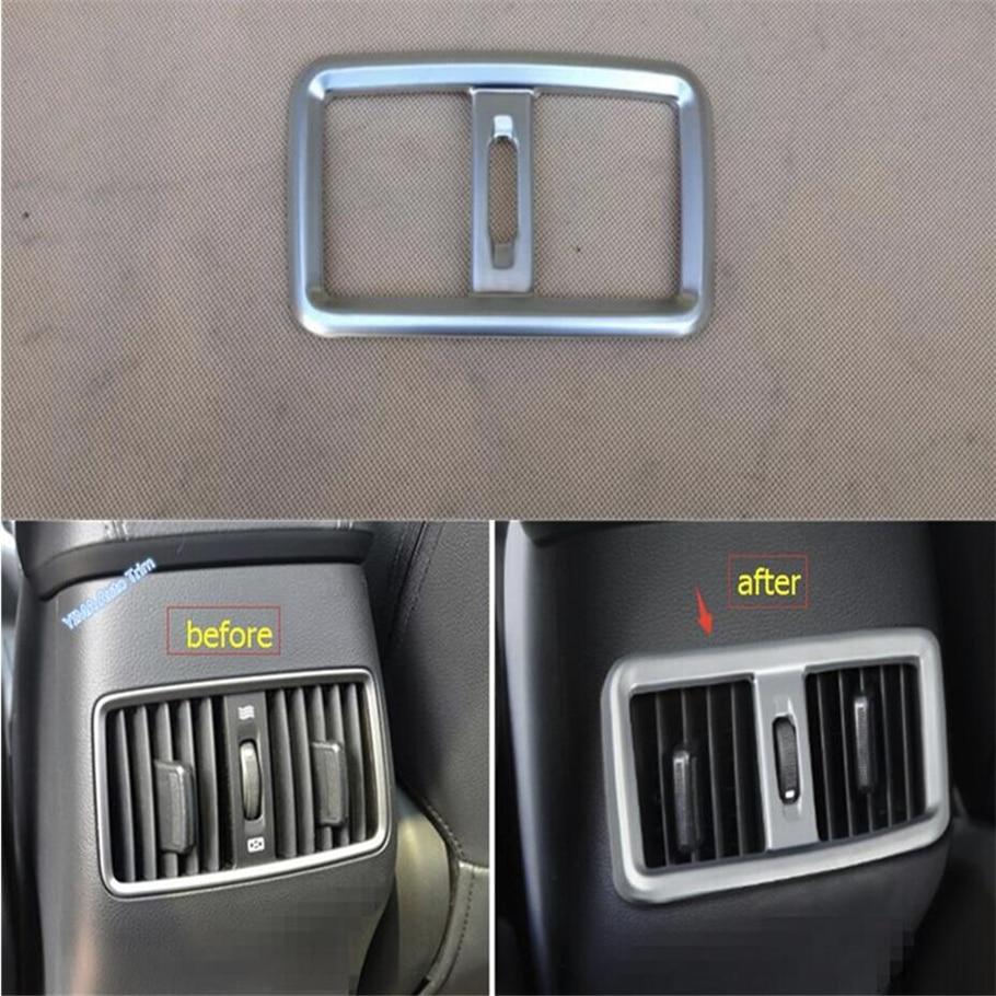 Lapetus Car Styling ABS Asiento Trasero Aire Acondicionado Vent Tapa - Accesorios de interior de coche