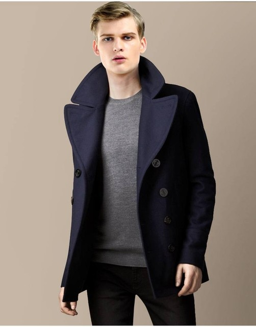 2077d2a766e US $70.88 |Tailor made Winter Wool long coat men Army green Thick trench  coat Jackets men's fur collar Outerwear Overcoats-in Wool & Blends from  Men's ...