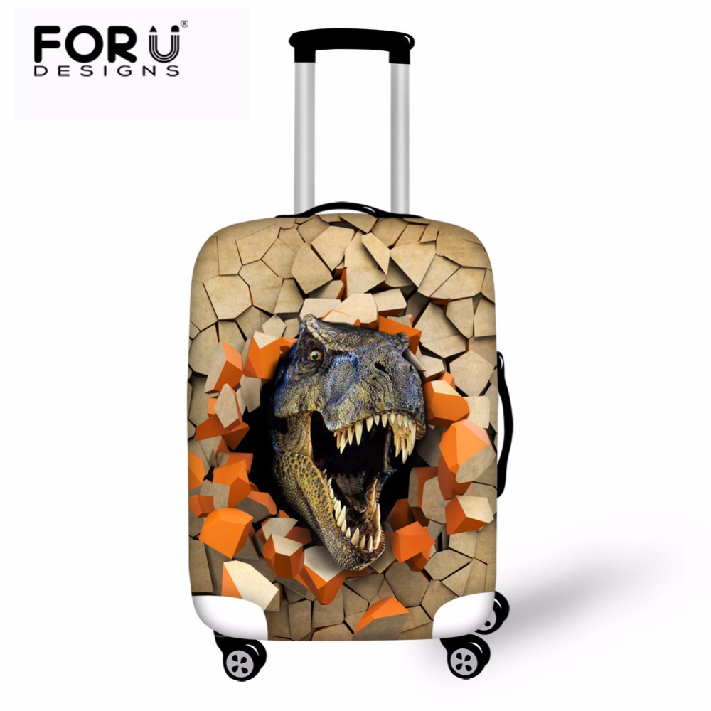 FORUDESIGNS Dinosaur Travel Suitcase Protective Cover Travel Accessories Elastic Luggage Dust Cover Apply To 18''-30'' Suitcase