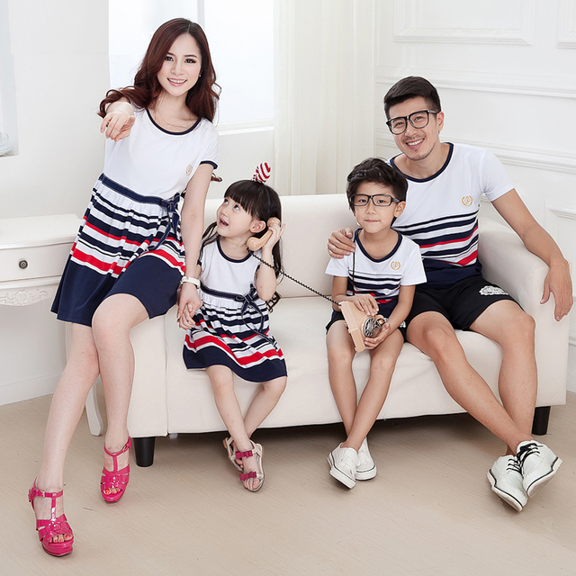 da552b3f5e10 Matching Family Clothes Mother Daughter Dresses Girl and Mother ...