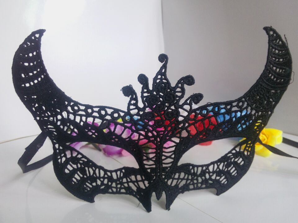 black lace flower mask sexy lady cutout eye masquerade mask mysterious masks at home well party Fancy Dress Costume in Party Masks from Home Garden