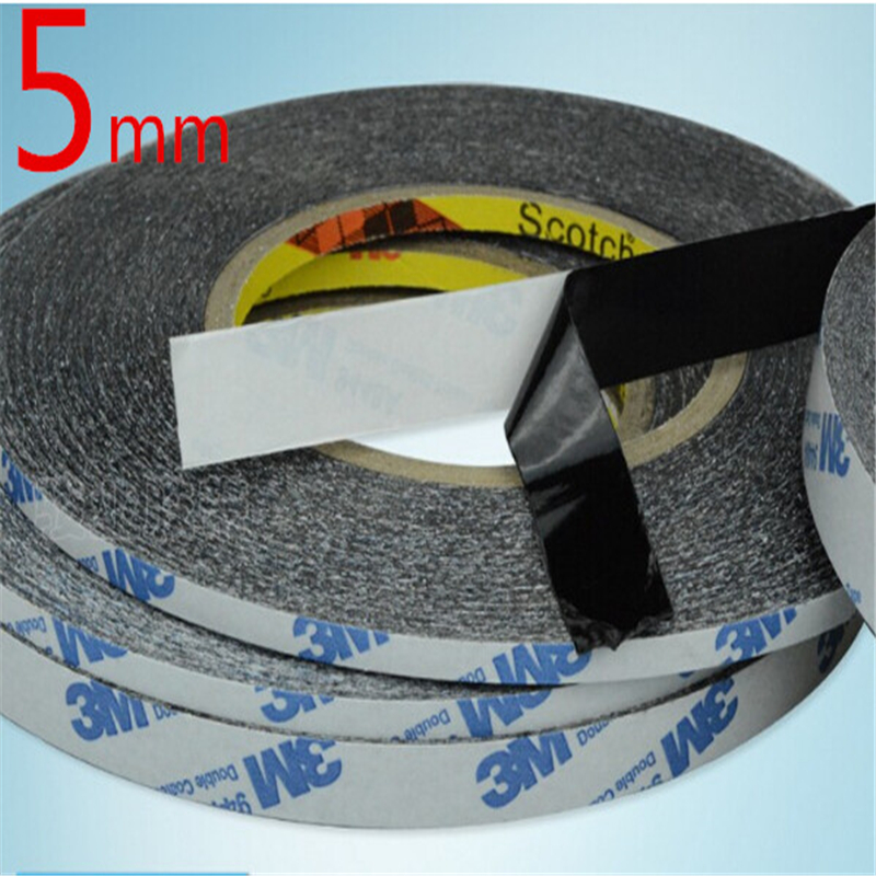 5mm* 50M  Adhesive Double Sided Tape 5MM*50M Extremely Strong Sticky for Mobile Phone Repair Wholesale 50 meters roll 0 2mm thick 2mm 50mm choose super strong adhesive double sided sticky tape for cellphone tablet case screen