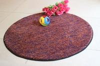 Brief Round Carpet Diameter 60 80 100 110 120CM Nylon Pure Color Parlor Rugs Living Room