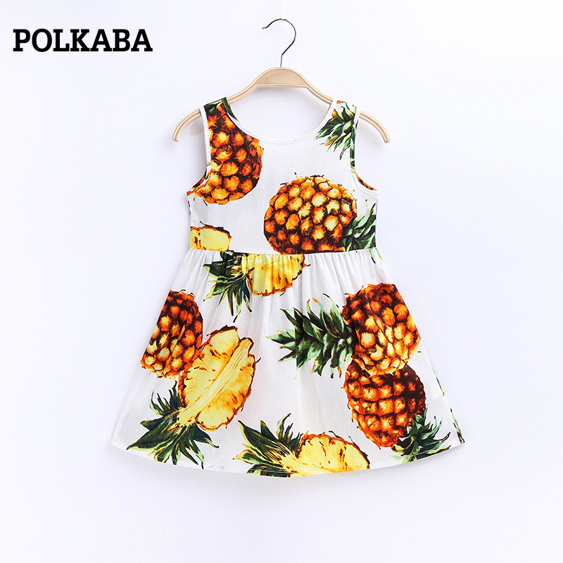 1-8Y Casual Floral Dress Baby Girl 2018 New Arrival Children Beach Dress Summer Pineapple Blue Ribbon Cotton Baby Girl Clothes1-8Y Casual Floral Dress Baby Girl 2018 New Arrival Children Beach Dress Summer Pineapple Blue Ribbon Cotton Baby Girl Clothes