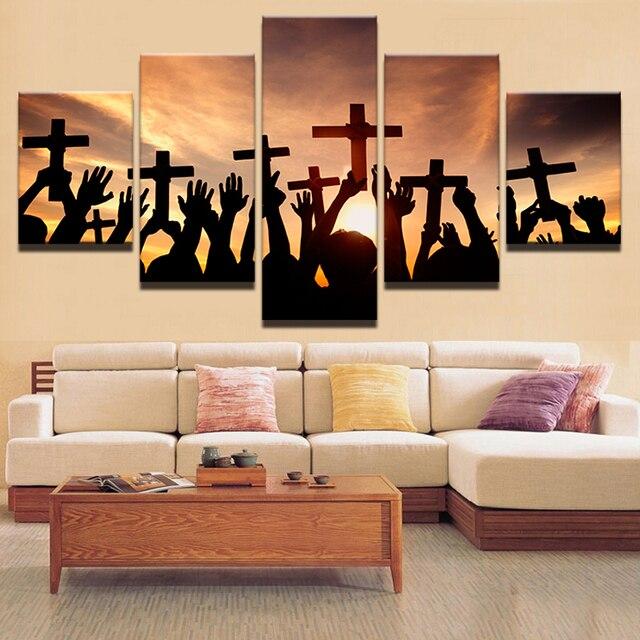 Leinwand Malerei Modulare Bild Wandkunstausgangsdekoration 5 Panel
