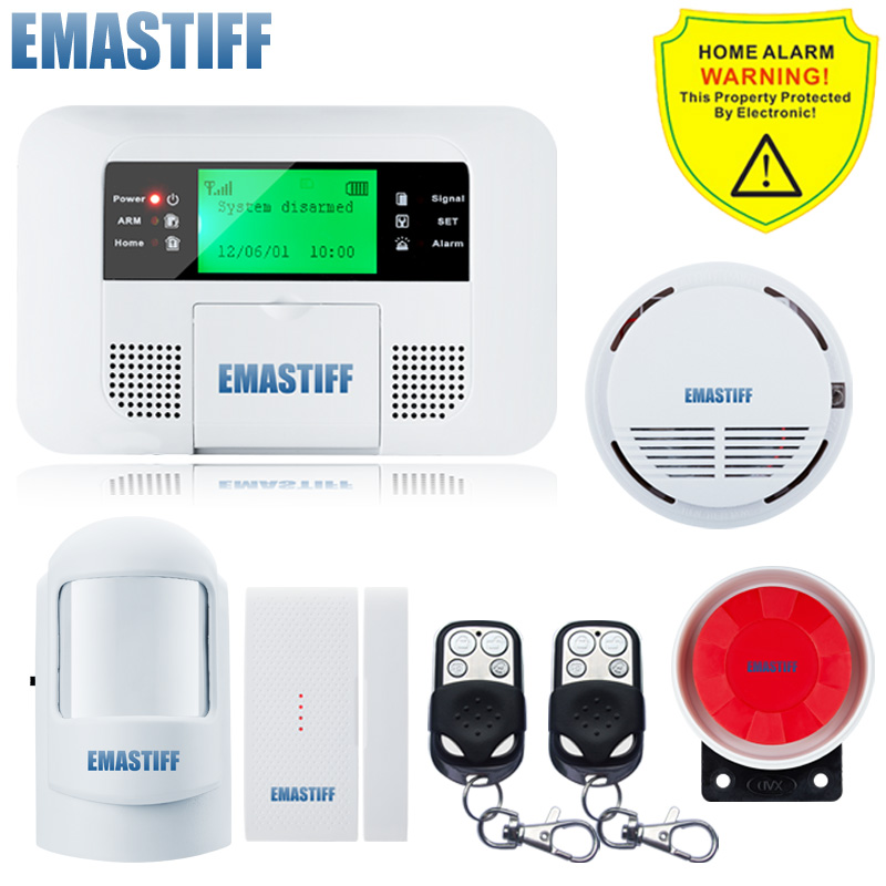 Free Shipping!Wireless GSM pstn Alarm system Home security Alarm systems LCD Keyboard Sensor alarm PIR Door Sensor Auto Dialling dual network russian spanish french wireless gsm pstn alarm system home security alarm systems with lcd keyboard without battery