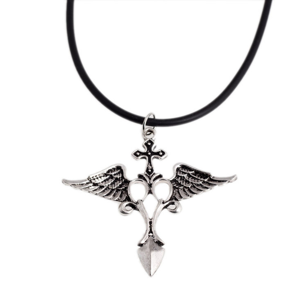 2017 free shipping silver plated archangel raphael raffaele angel 2017 free shipping silver plated archangel raphael raffaele angel wing pendant necklace raffaele cross necklace hot sell in pendant necklaces from jewelry buycottarizona Images