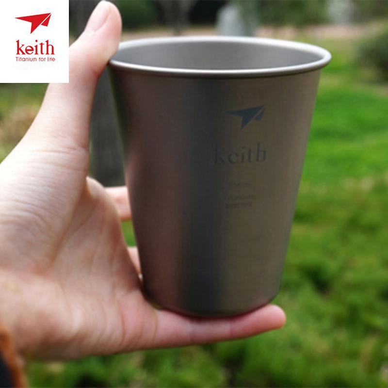 450ml Cup Portable Titanium Beer Cup Coffee Mug Water Drinking Coffee Cups For Outdoor Camp Travel Picnic Drinkware Ti9002